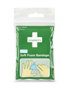 Cederroth Soft Foam Bandage Blue - 40cm Pocket size - frontal
