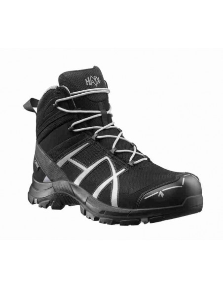 HAIX Black Eagle Safety 40 Mid black/silver - Front - Cardio Angel